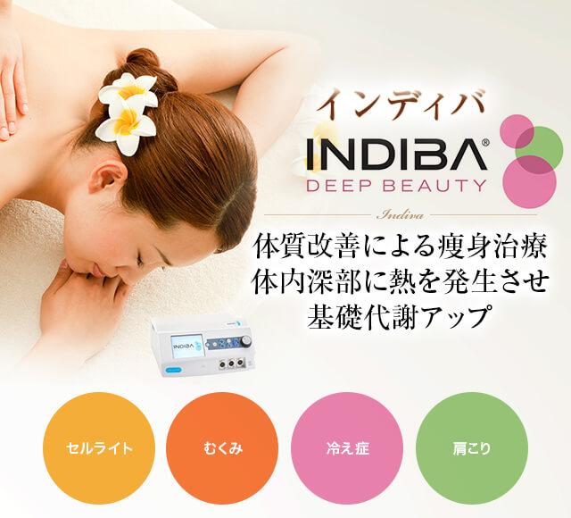 インディバ 体質改善による痩身治療 体内深部に熱を発生させ基礎代謝アップ
