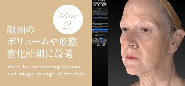 顔面のボリュームや形態変化計測に最適